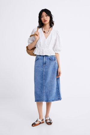 best value purchase cheap new high quality Denim midi skirt