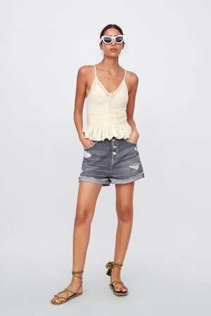 dc1b0a58bc Zara ripped women's capris & shorts, compare prices and buy online