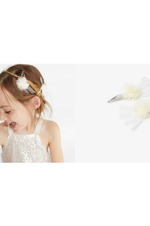 Zara 2-pack of tulle pompom hair clips