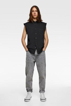 Zara Sleeveless denim shirt
