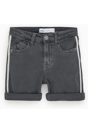 Zara Denim bermuda shorts with side taping