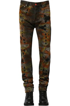 Heron Preston Regular Tie Dye Cotton Denim Jeans