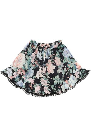 ZIMMERMANN Girls Printed Skirts - Verity Floral Print Cotton Skirt