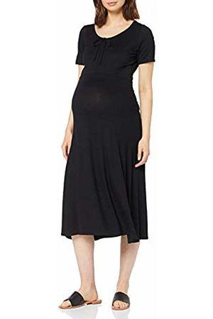 Dorothy Perkins Women's Scoop Neck Bow MIDI Dress ( 010)