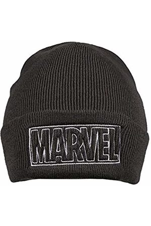 Marvel Men's LINE Logo Beanie, (Graphite Gry)