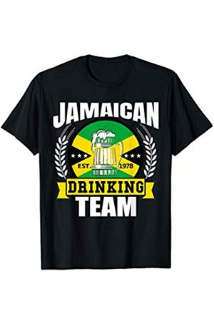 aceaf7072 Jamaican Drinking Team Funny Jamaica Flag Beer Party Gift T-Shirt