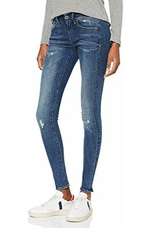 G-Star Women's Lynn Mid Waist Super Skinny Jeans, (Faded Destroy 9136-A890)