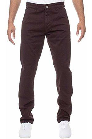 Enzo Men's EZ348 DF Skinny Jeans, Burgundy