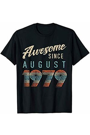 CuteComfy Awesome Since August 1979 Vintage Style 40th Birthday Gift T-Shirt