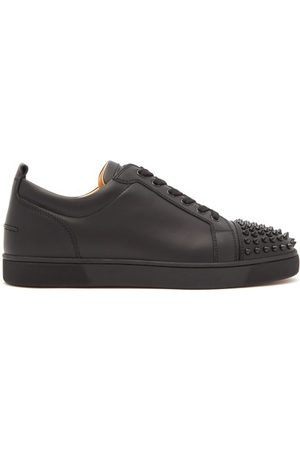 Christian Louboutin Men Trainers - Louis Junior Spike-embellished Leather Trainers - Mens