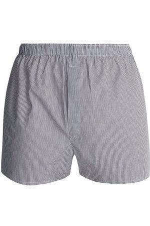 Sunspel Striped Cotton Boxer Shorts - Mens