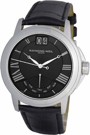Raymond Weil Men's Quartz Dial Analogue Display and Leather Strap 9576-STC-00200