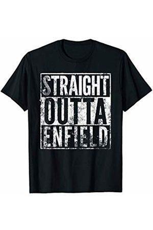 Enfield T Shirt Emporium Straight Outta Enfield T Shirt. Distressed Effect