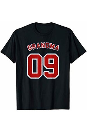 Grandma Of 09 Retro Vintage Style Sports Shirts Retro Style Grandma Sports Gift Grandma Of 09 T-Shirt