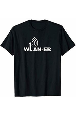 WLAN Party Tee Funny Gamer Shirt Novelty T-Shirt WLAN Video Gamer Slotmachine E-Sport Sayings