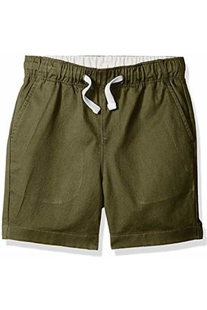 LOOK by crewcuts Boys' Pull on Chino Short (Olive)