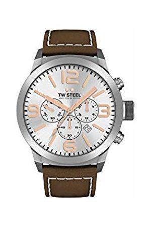 TW steel Mens Chronograph Quartz Watch with Leather Strap TWMC11