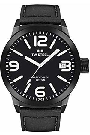 TW steel Mens Analogue Quartz Watch with Leather Strap TWMC30
