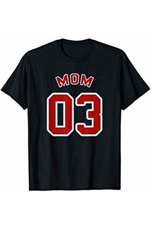Retro Vintage Style Sports Mom Shirts Mom Of 03 Retro Vintage Style Sports Mom Gift Mom Of 03 T-Shirt