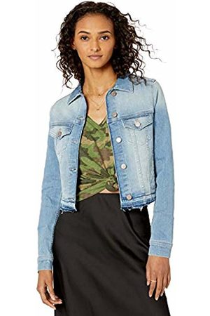 The Drop Downtown Cropped Cutoff Denim Jacket