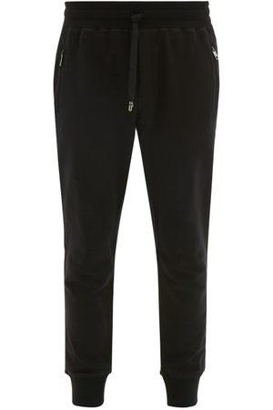 Dolce & Gabbana Logo-plaque Cotton-jersey Track Pants - Mens