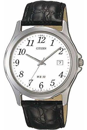 Citizen Men's Analogue Quartz Watch with Leather Strap BI0740-02A