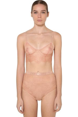 OFF-WHITE Soft Lace Bustier W/underwire