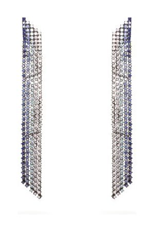 Lynn Ban Waterfall Sapphire & Rhodium-plated Earrings - Womens