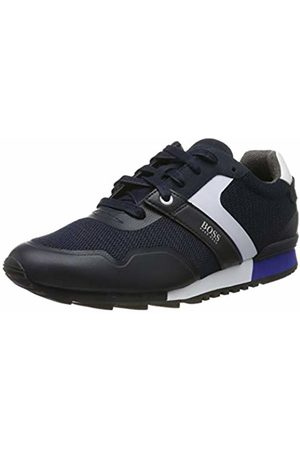 HUGO BOSS Men's Parkour_Runn_Meth Low-Top Sneakers, (Dark 401)