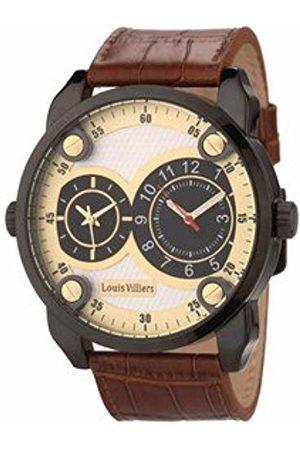 Louis Villiers Unisex Adult Analogue Quartz Watch with Textile Strap AG3736-03