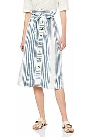 Rich & Royal Women's Linen Skirt (Pearl 113)