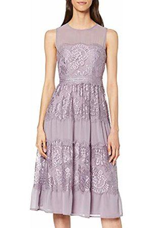 Little Mistress Women's Paige Lavender Lace Midi Dress Party, Frost 001