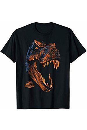 Jurassic Park T-Rex Orange Glow Roaring T-Shirt
