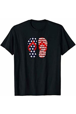 Patriotic Gifts USA Apparel Co. Flip Flops American Flag 4th of July T Shirt Tshirt Tee T-Shirt