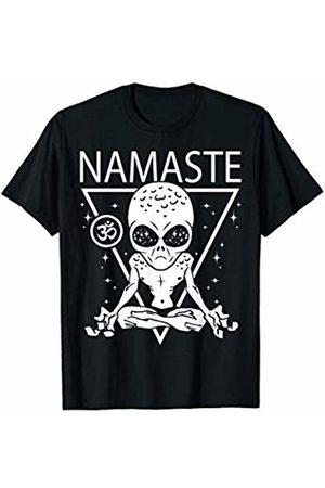 NAMASTE ALIEN YOGA SHIRTS & YOGA TSHIRTS CO. Namaste Alien Meditating - Alien Yoga - Meditation - Yoga T-Shirt