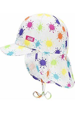 Döll Baby Girls' Bindemütze Mit Schirm Und Nackenschutz Sun Hat, (Beetroot |