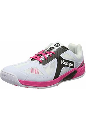 Kempa Wing Lite Women Handball Shoes, (Blanco/Negro/Fucsia 000)