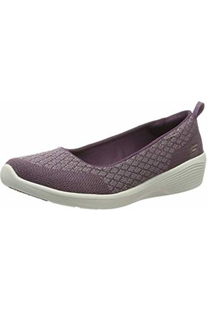 Skechers Women's Arya - Get Real Closed Toe Ballet Flats