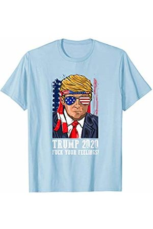 Trump 2020 Republican Election Apparel Trump 2020 Fuck Your Feelings USA Flag Sunglasses Bandana T-Shirt