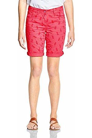 Cecil Women's 372230 Bermuda Shorts, (neo Coralline 21664)