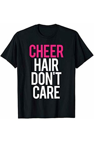 GYMCO Workout T-Shirts Cheer Hair Don't Care Funny Gym Workout Saying Cheer Leading T-Shirt