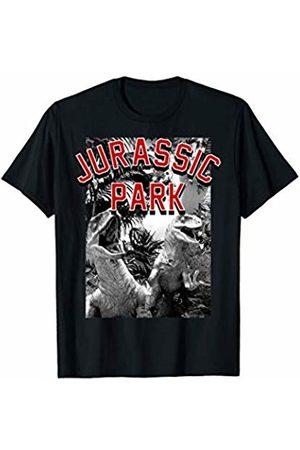 Jurassic Park And White Raptor Poster T-Shirt