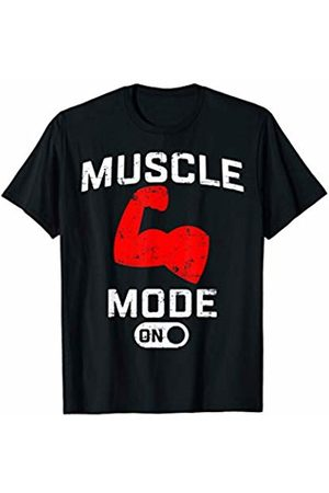 Funny fitness workout Designs by FunJDesign Muscle Mode On Funny Fitness T-Shirt