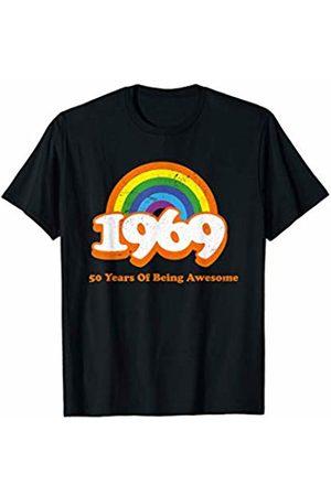 6c0d95d9 1969 Rainbow Retro Vintage 50 Years Old Bday 50th Birthday T-Shirt