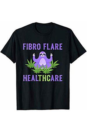 Fibromyalgia Migraine Lupus Awareness ADC Fibro Flare Fibromyalgia Marijuana Meditating Sloth Yoga T-Shirt