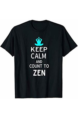 Funny Yoga Best Keep Calm Meditation Gift Tees Keep Calm and Count to Zen Funny Yoga Gift TShirt