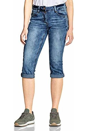 Cecil Women's 372215 Scarlett Straight Jeans, (mid Used wash 10320)