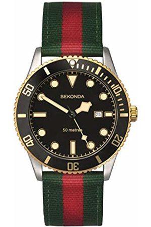 Sekonda Watches Mens Analogue Classic Quartz Watch with Nylon Strap 1579.27