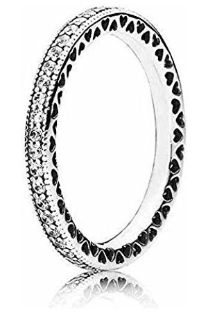 Pandora Women's Ring Infinite Hearts 925 Cubic Zirconia Transparent