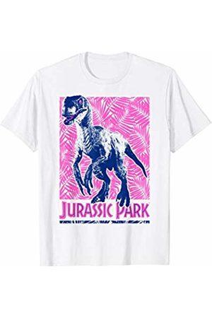 Jurassic Park Raptor Neon Tropical Poster T-Shirt